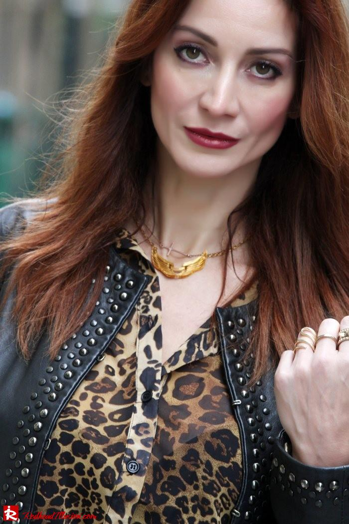 Redhead Illusion - Animal Print in red-06