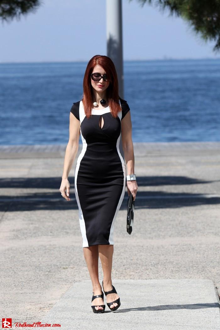 Redhead Illusion - Determined - Bodycon Midi Dress -08