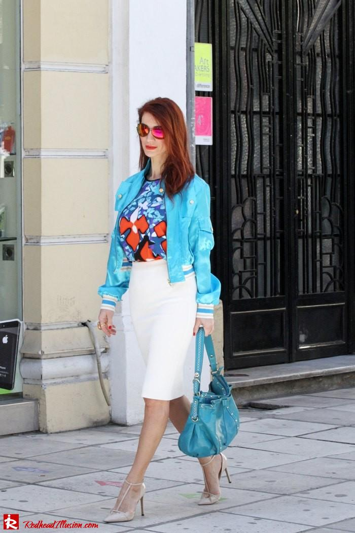 Redhead Illusion - The skirt and the bomber-05