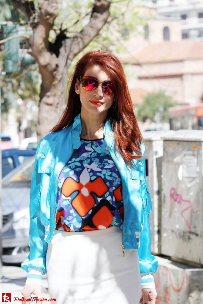 Redhead Illusion - The skirt and the bomber-08