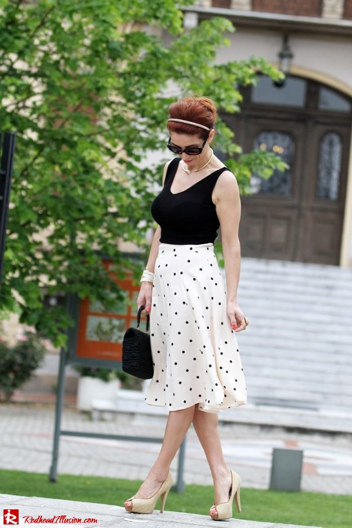 Redhead Illusion - Better late than never - polka dot skirt-03