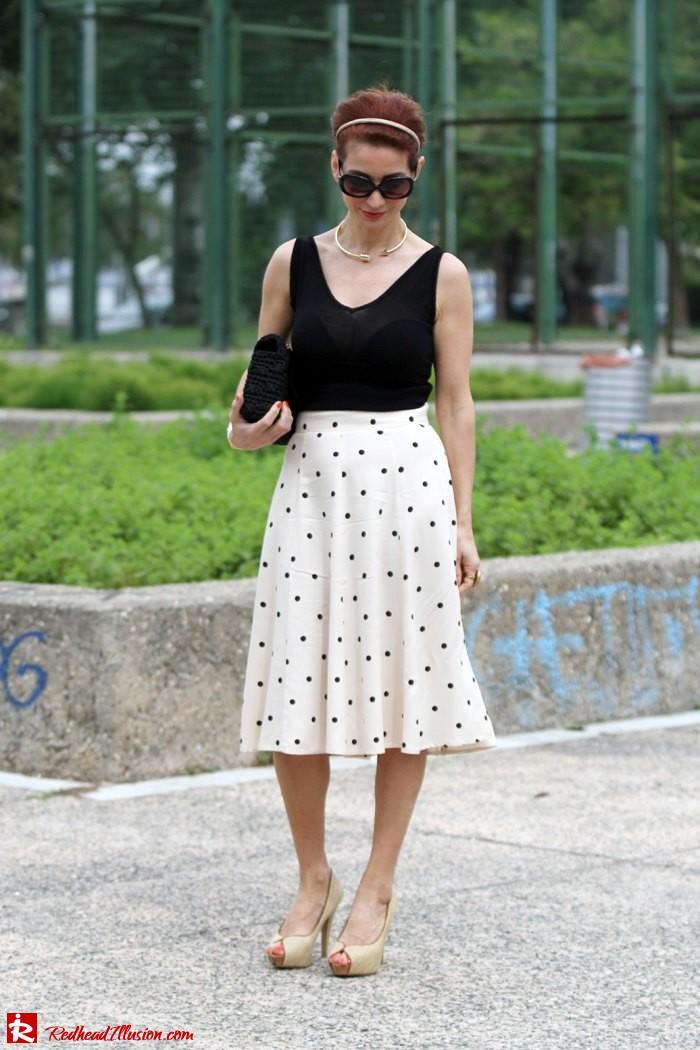 Redhead Illusion - Better late than never - polka dot skirt-04