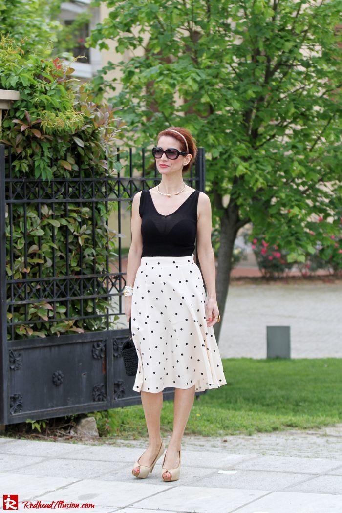 Redhead Illusion - Better late than never - polka dot skirt-06