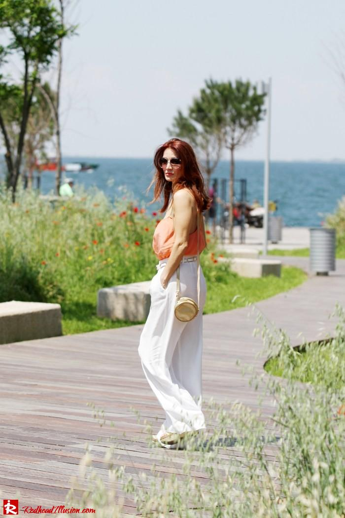 Redhead Illusion - Spaghetti time - Wide leg pants with thin straps top-06