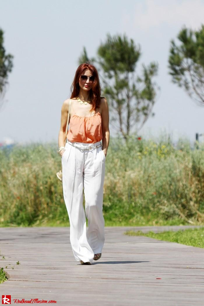 Redhead Illusion - Spaghetti time - Wide leg pants with thin straps top-08