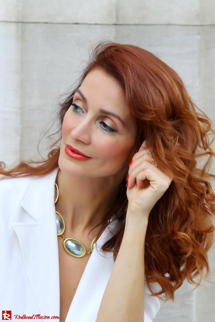 Redhead Illusion - Golden touch - White jacket- Androgynous style--06