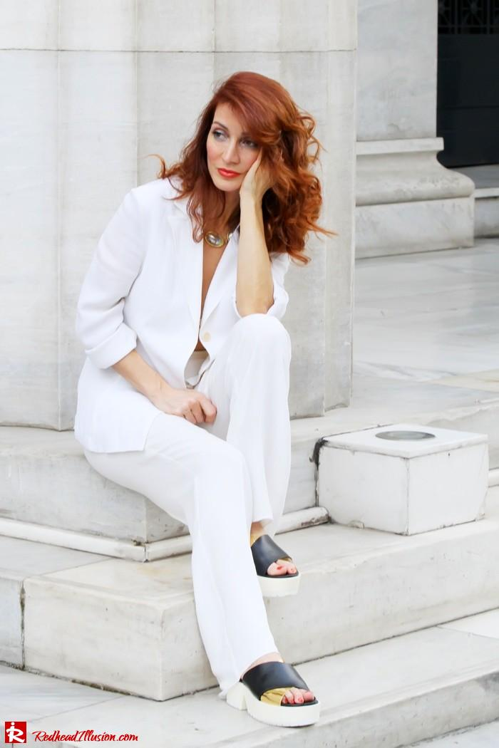 Redhead Illusion - Golden touch - White jacket- Androgynous style--07