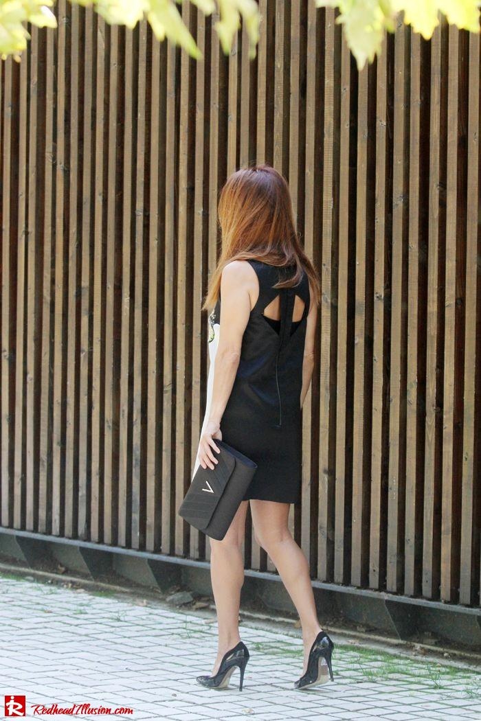 Redhead Illusion - Orchids - Embellishment Dress with Ear Cuff-10