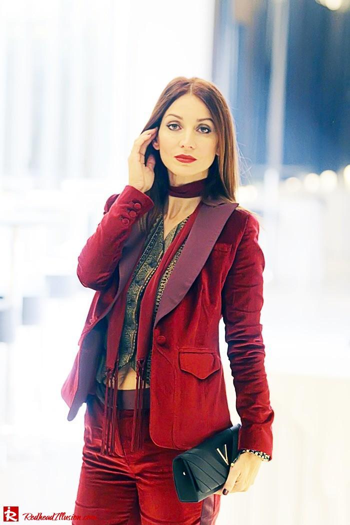 Redhead illusion - Red velvet - Altuzarra for target - Velvet Suit-05