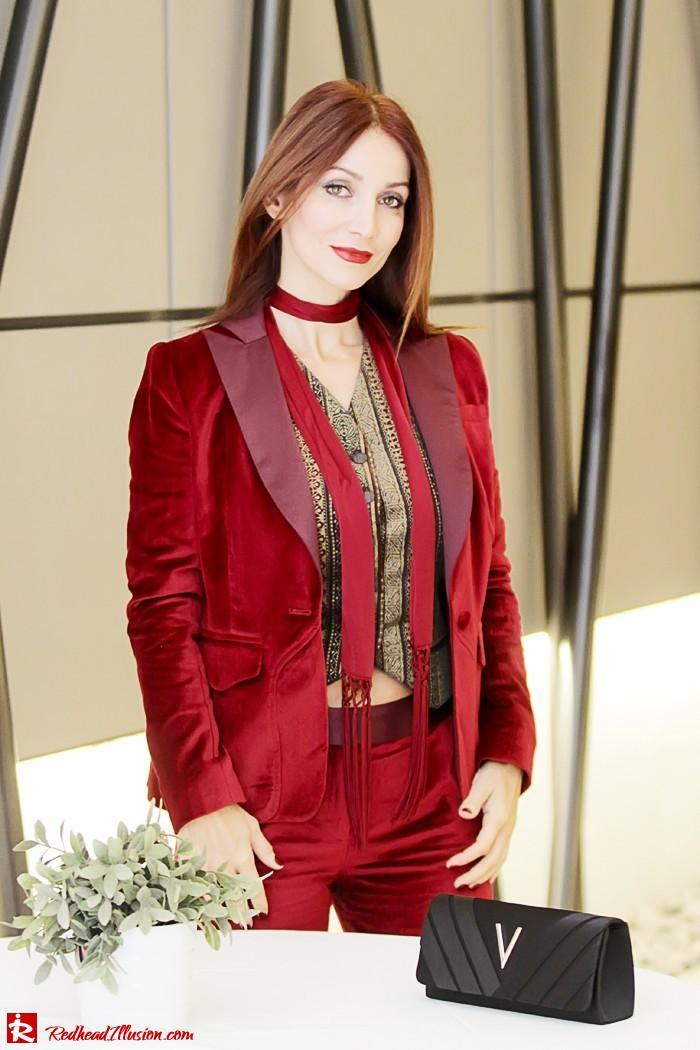 Redhead illusion - Red velvet - Altuzarra for target - Velvet Suit-10