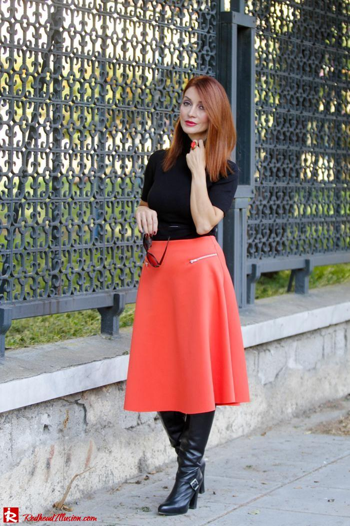 Redhead Illusion - Vitamin C - River Island Skirt - Karen Millen Coat-10