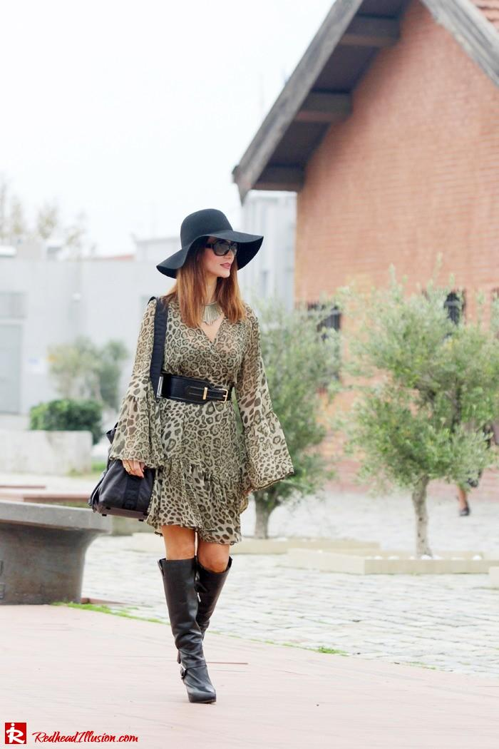 Redhead Illusion - Free Zone - Boho Style - Mix and Match Dress and Michael Kors Boots-10