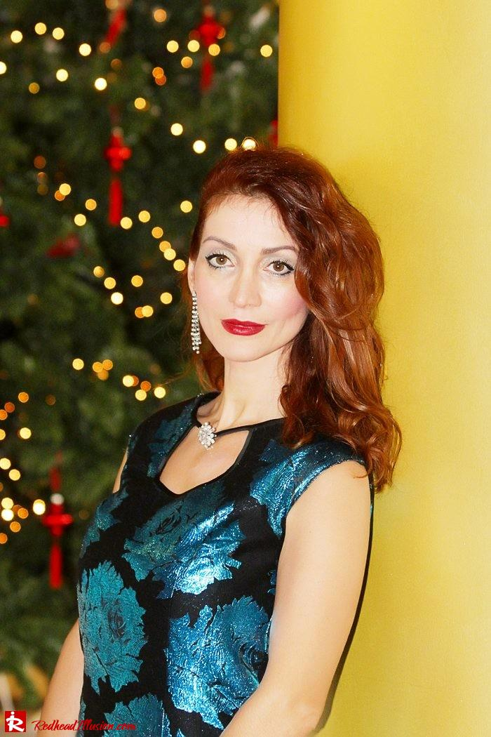 Redhead Illusion - The most wonderful time of the year is christmas - Vintage Dress-02