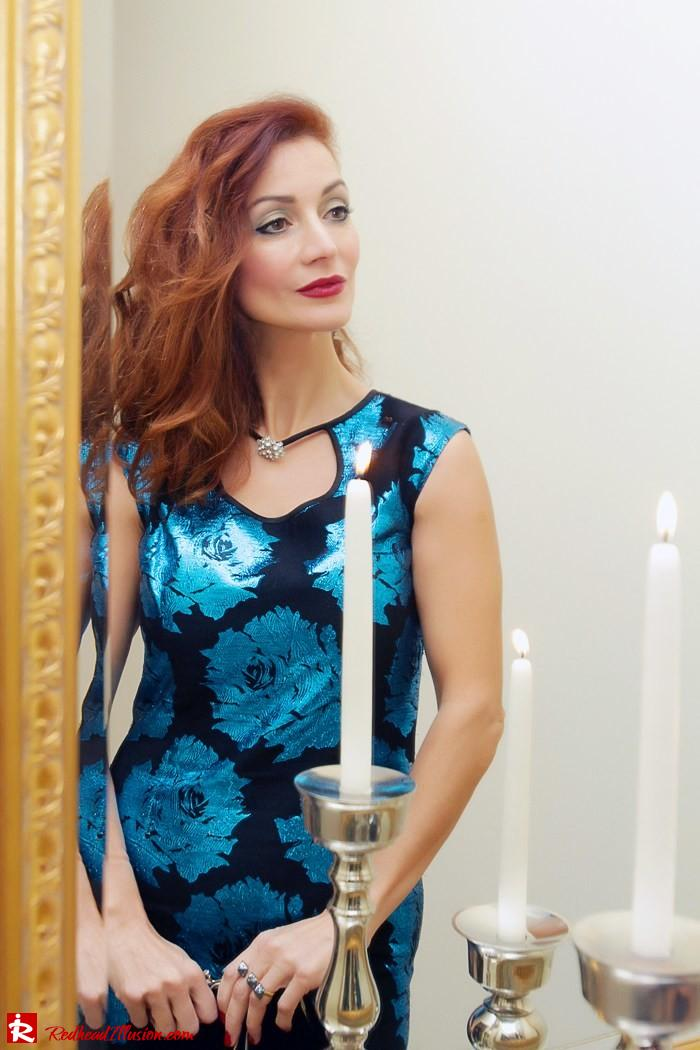 Redhead Illusion - The most wonderful time of the year is christmas - Vintage Dress-07