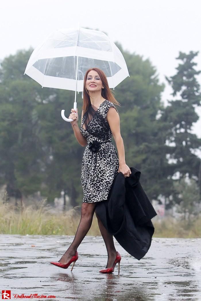 Redhead Iillusion - Fashion Blog by Menia - Rainy Day, Dream Away - Denny Rose Dress-02