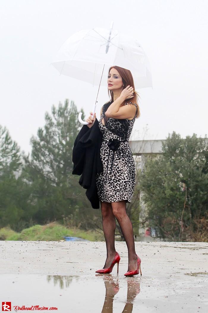 Redhead Iillusion - Fashion Blog by Menia - Rainy Day, Dream Away - Denny Rose Dress-03