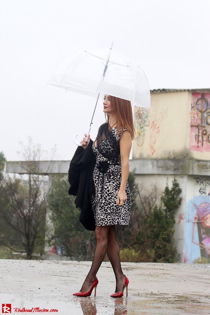 Redhead Iillusion - Fashion Blog by Menia - Rainy Day, Dream Away - Denny Rose Dress-04