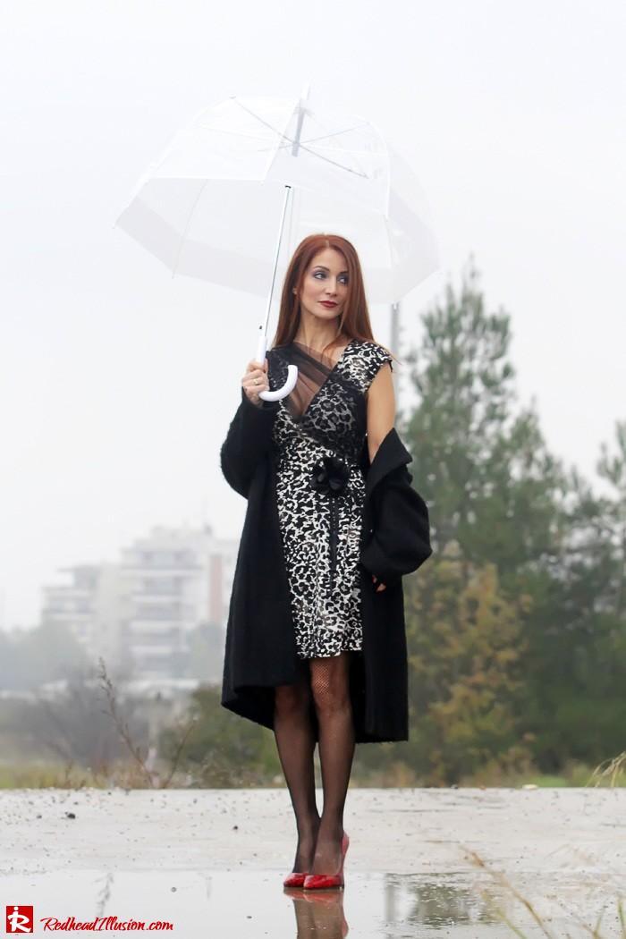 Redhead Iillusion - Fashion Blog by Menia - Rainy Day, Dream Away - Denny Rose Dress-08