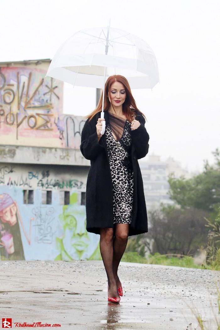 Redhead Iillusion - Fashion Blog by Menia - Rainy Day, Dream Away - Denny Rose Dress-09
