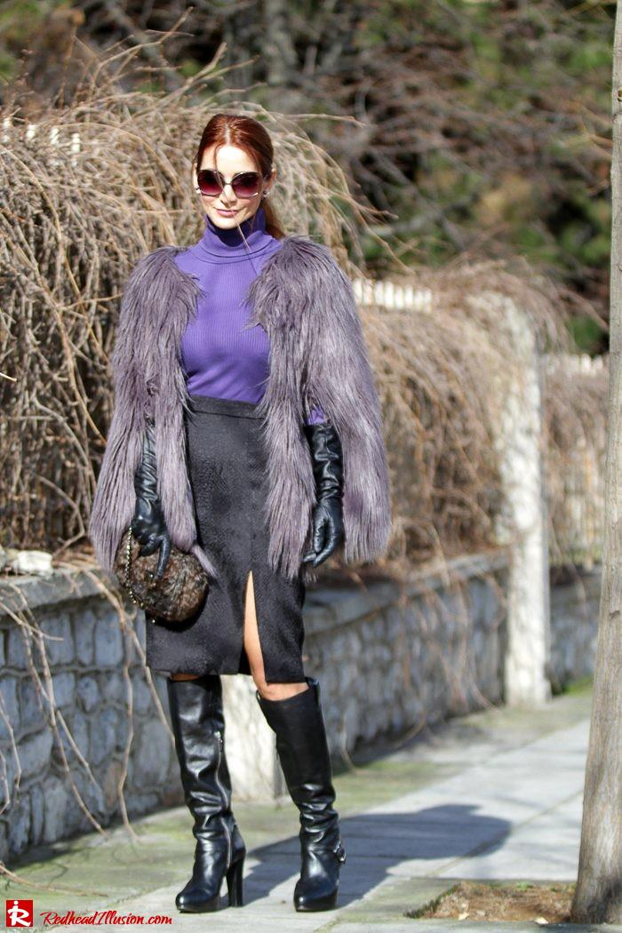Redhead Illusion - Fashion Blog by Menia - Balance - Altuzarra Pencil Skirt with Supertrash Cape and Michael Kors Boots-04