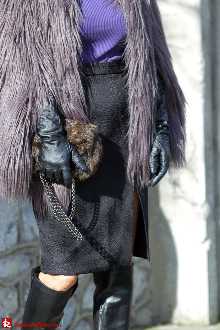 Redhead Illusion - Fashion Blog by Menia - Balance - Altuzarra Pencil Skirt with Supertrash Cape and Michael Kors Boots-07