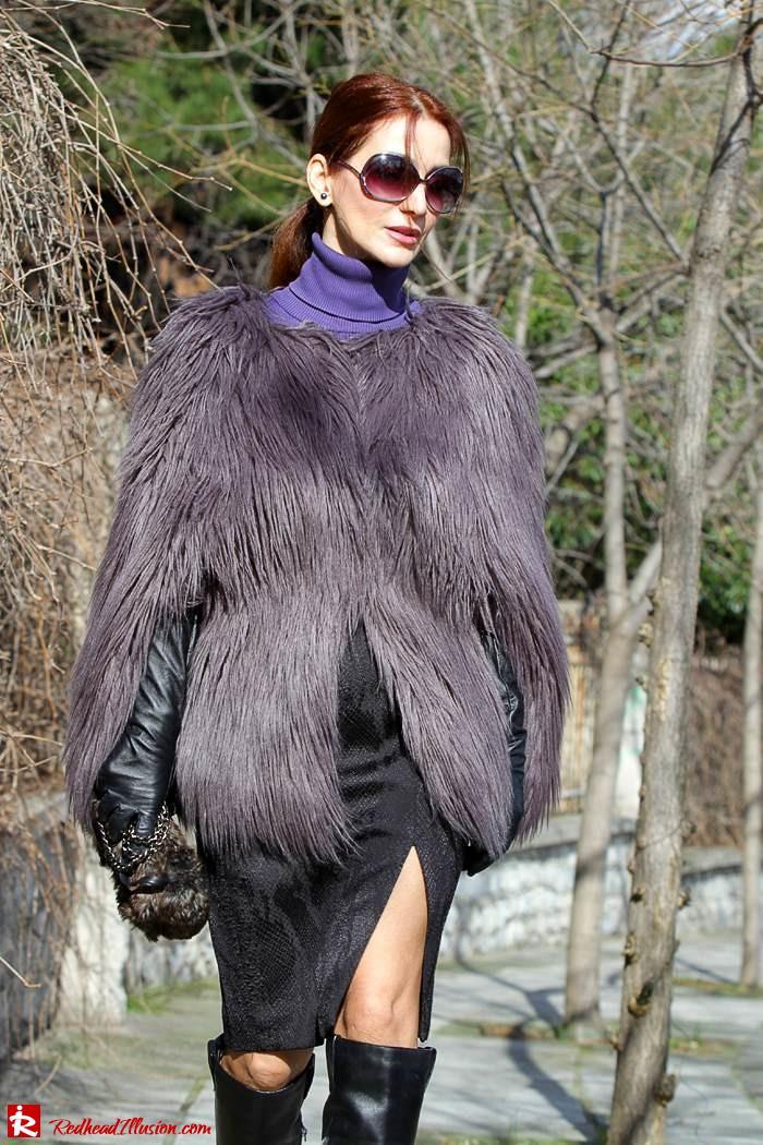 Redhead Illusion - Fashion Blog by Menia - Balance - Altuzarra Pencil Skirt with Supertrash Cape and Michael Kors Boots-10
