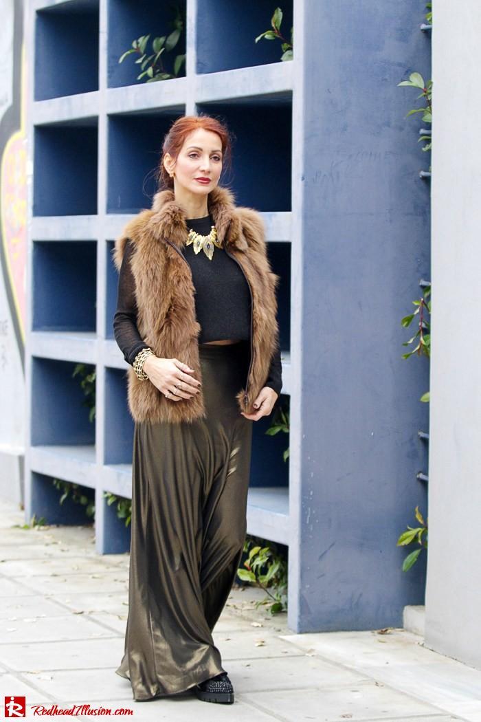 Redhead Illusion - Fashion Blog by Menia - Bronze Skirt - River Island Skirt-09