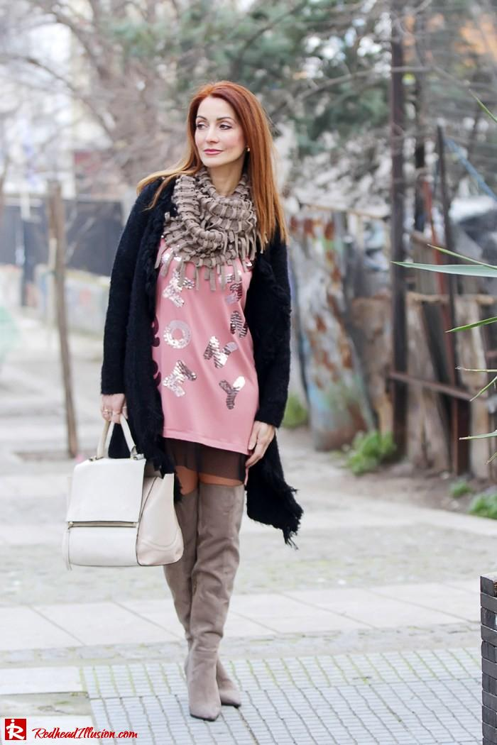 Redhead Illusion - Fashion Blog by Menia - High Obsession - Denny Rose Dress - Over the knee Boots-05