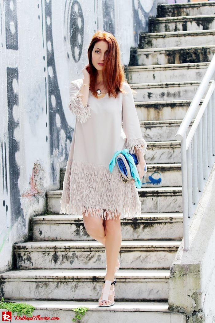 Redhead Illusion - Fashion Blog by Menia - Comfortable but also stylish - Twin-set Dress-02