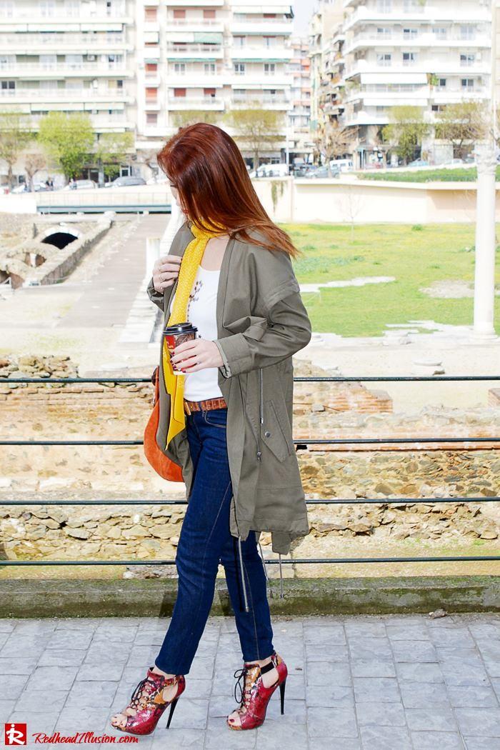 Redhead Illusion - Fashion Blog by Menia - Modern... walk in the Ancient Roman Market - Assos Parka Jacket-05