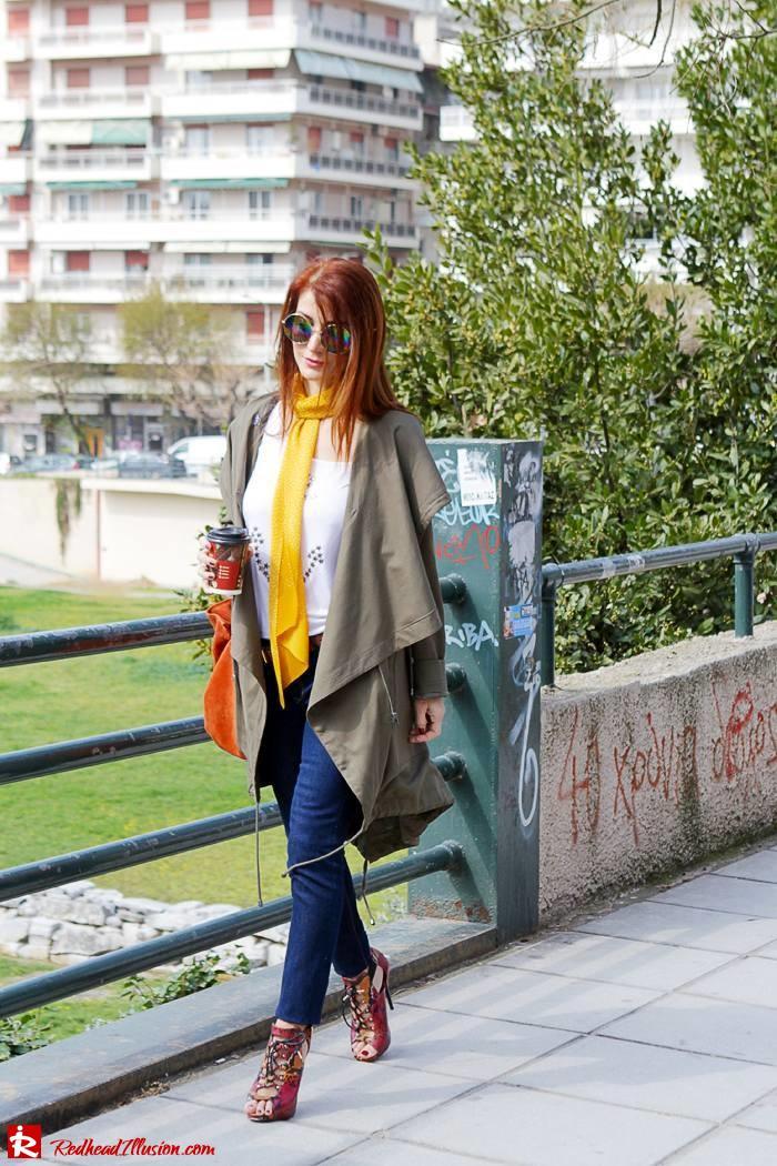 Redhead Illusion - Fashion Blog by Menia - Modern... walk in the Ancient Roman Market - Assos Parka Jacket-06