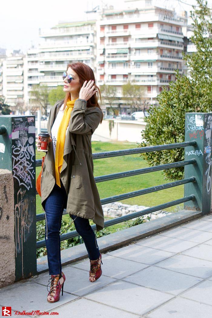 Redhead Illusion - Fashion Blog by Menia - Modern... walk in the Ancient Roman Market - Assos Parka Jacket-07