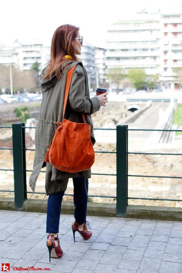 Redhead Illusion - Fashion Blog by Menia - Modern... walk in the Ancient Roman Market - Assos Parka Jacket-11