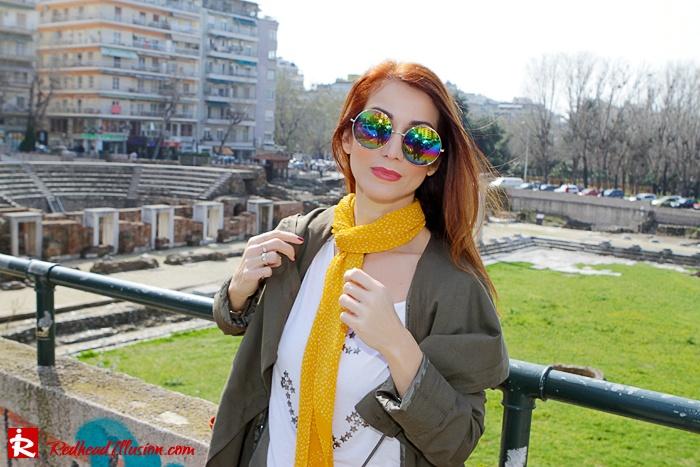 Redhead Illusion - Fashion Blog by Menia - Modern... walk in the Ancient Roman Market - Assos Parka Jacket-12