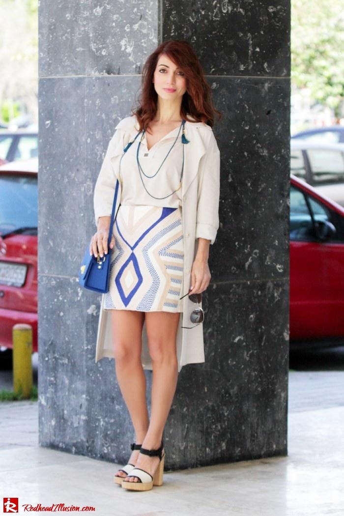 Redhead Illusion - Fashion blog by Menia - Embroidered Skirt - H&M-04