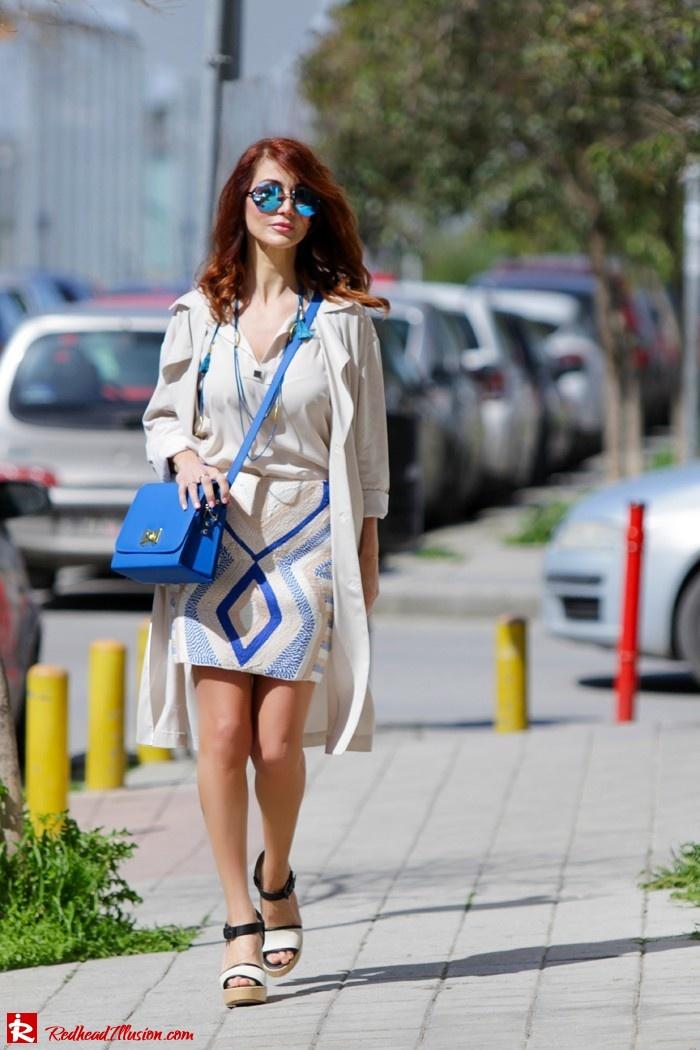 Redhead Illusion - Fashion blog by Menia - Embroidered Skirt - H&M-07