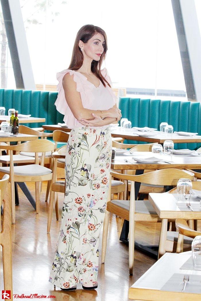 Redhead Illusion - Fashion Blog by Menia - Flower Power - Denny Rose Ruffle Top with Zara Pants-04