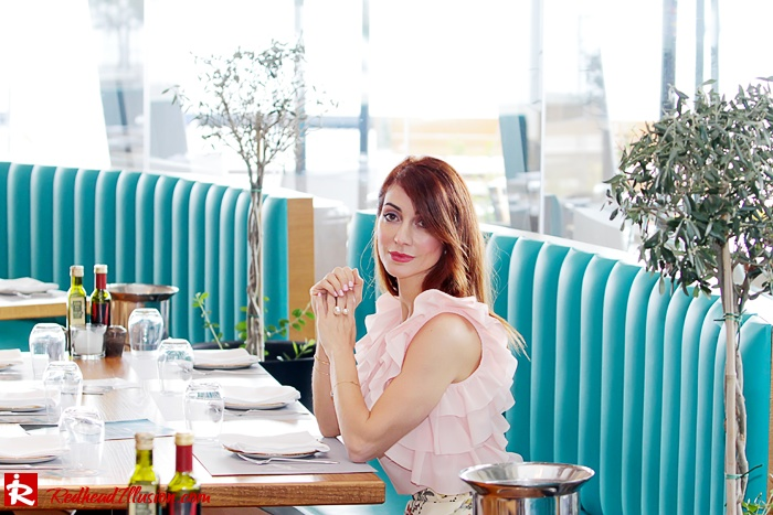 Redhead Illusion - Fashion Blog by Menia - Flower Power - Denny Rose Ruffle Top with Zara Pants-13