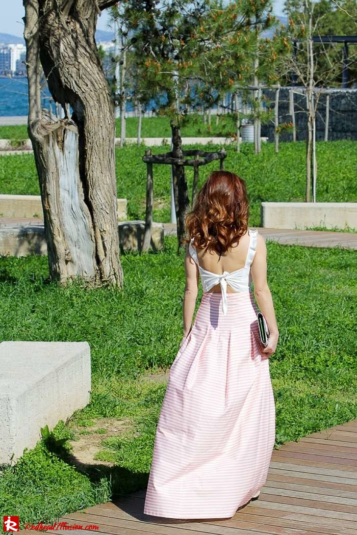 Redhead Illusion - Fashion Blog by Menia - Spring Pink! - Pink Skirt with Crop Top-05
