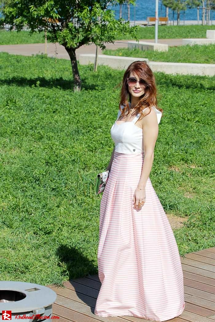 Redhead Illusion - Fashion Blog by Menia - Spring Pink! - Pink Skirt with Crop Top-08