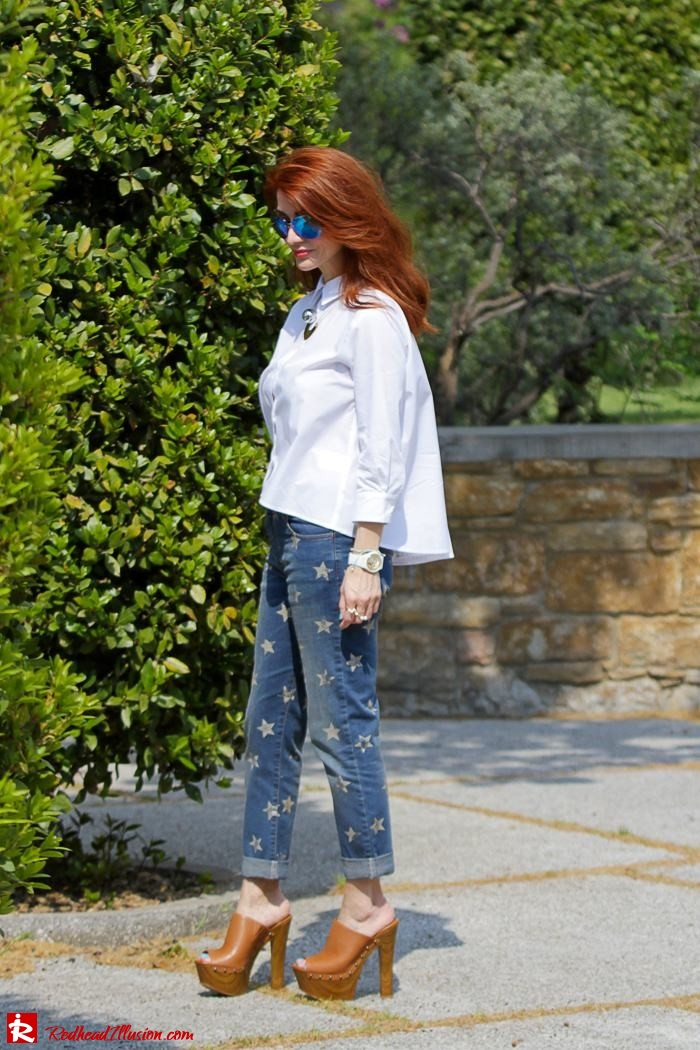 Redhead Illusion - Fashion Blog by Menia - Not classic - Denny Rose Jeans and Shirt-02