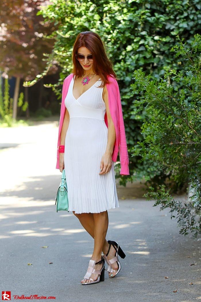 Redhead Illusion - Fashion Blog by Menia - Simplicity - White Dress - Gucci Sunglasses - Sugarcube Bag-02