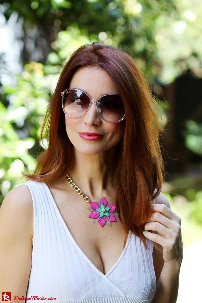 Redhead Illusion - Fashion Blog by Menia - Simplicity - White Dress - Gucci Sunglasses - Sugarcube Bag-03