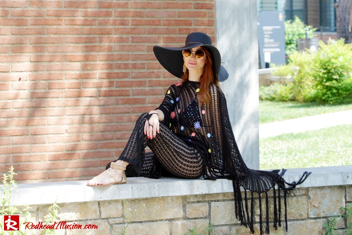 Redhead Illusion - Fashion Blog by Menia - Black Magic - Knitted Jumpsuit - Denny Rose Poncho-08