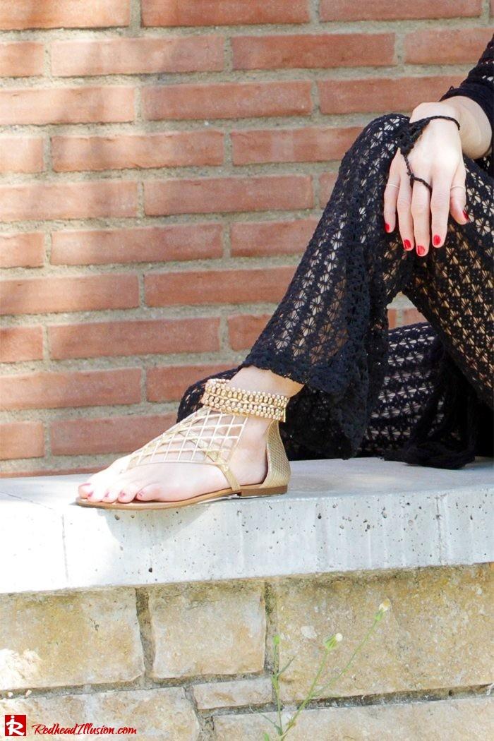 Redhead Illusion - Fashion Blog by Menia - Black Magic - Knitted Jumpsuit - Denny Rose Poncho-09