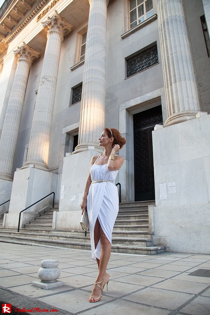 Redhead Iillusion - Fashion Blog by Menia - Grecian style - White Draped Dress-08