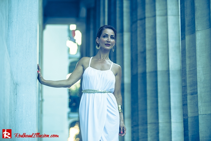 Redhead Iillusion - Fashion Blog by Menia - Grecian style - White Draped Dress-12