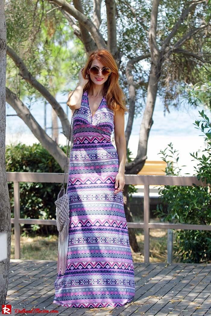 Redhead Illusion - Fashion Blog by Menia - Ethnic Trip - Asos Long Dress-03