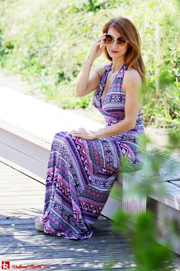 Redhead Illusion - Fashion Blog by Menia - Ethnic Trip - Asos Long Dress-06