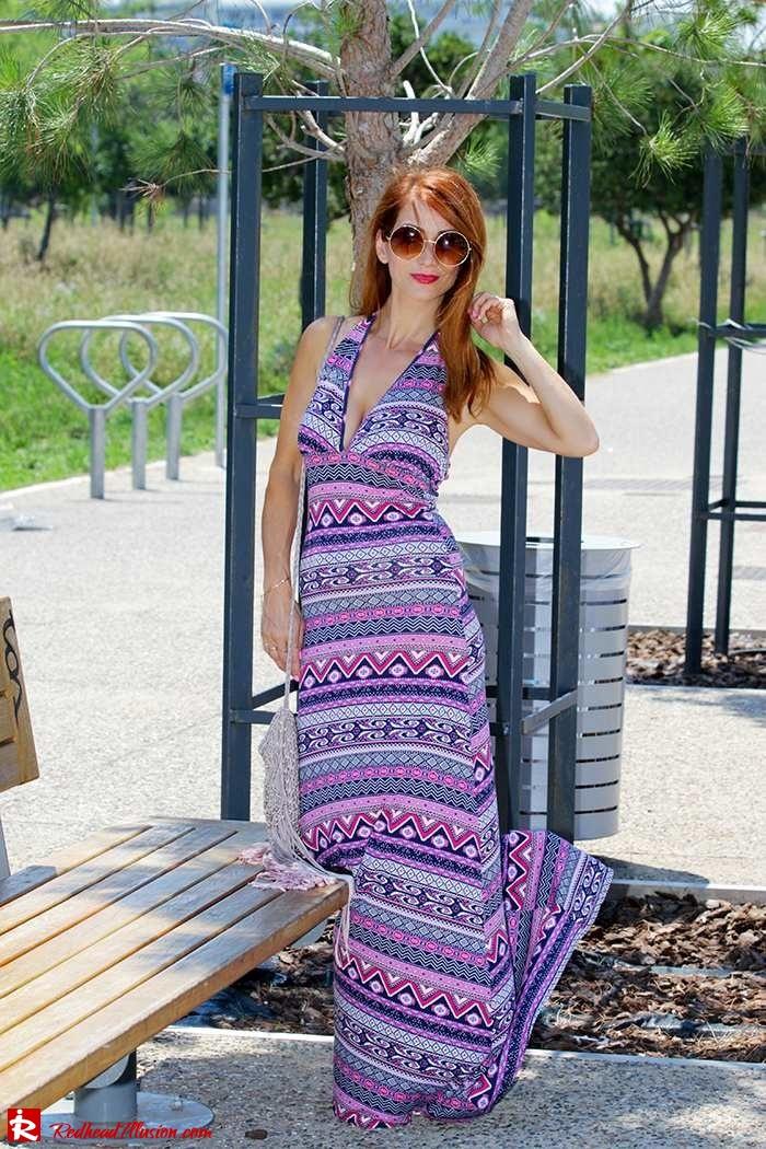 Redhead Illusion - Fashion Blog by Menia - Ethnic Trip - Asos Long Dress-08